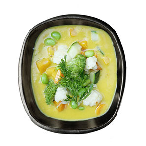 Pittige thaise curry met seizoensgroenten