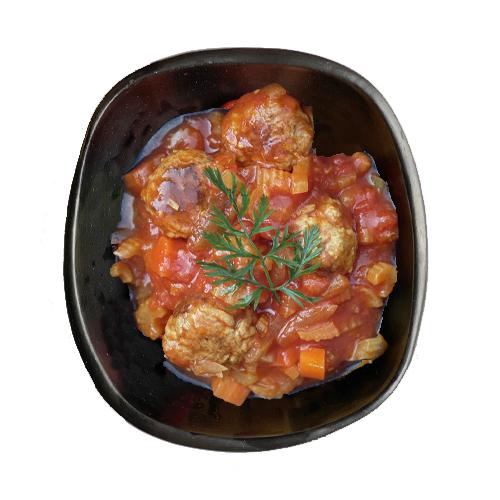 Gehaktballetjes met selder in tomatensaus