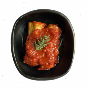 Canneloni met ricotta, spinazie en pomodore